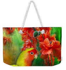 Love Among The Poppies Weekender Tote Bag by Carol Cavalaris