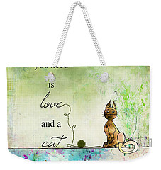 Love And A Cat Ginkelmier Weekender Tote Bag