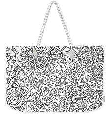 Love And Chrysanthemum Filled Hearts Vertical Weekender Tote Bag by Tamara Kulish