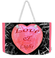 Love And Light Weekender Tote Bag by Hazy Apple