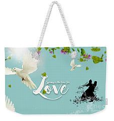 Love And Spring Weekender Tote Bag