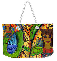 Love Angels Weekender Tote Bag by Angela L Walker