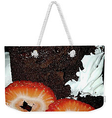 Weekender Tote Bag featuring the photograph Love Berry Much by Kelly Reber