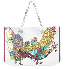 Love Birds Dancing Weekender Tote Bag