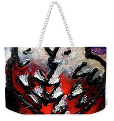 Weekender Tote Bag featuring the painting Love Birds by Genevieve Esson