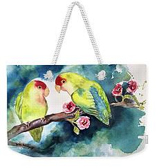 Love Birds On Branch Weekender Tote Bag