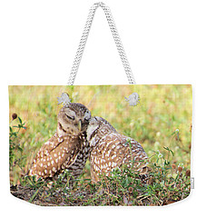 Weekender Tote Bag featuring the photograph Love Birds by Rosalie Scanlon