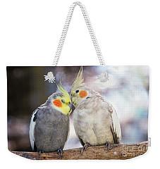 Love Birds Weekender Tote Bag by Stephanie Hayes