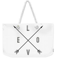 Love Compass Weekender Tote Bag