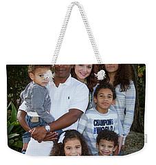 Weekender Tote Bag featuring the photograph Love Demonstrated James Ingram Family Art by Reid Callaway