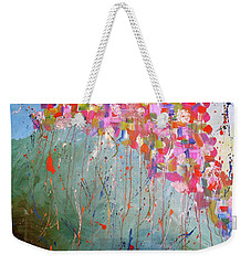 Love Flower Mountain Weekender Tote Bag