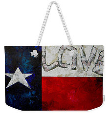 Weekender Tote Bag featuring the painting Love For Texas by Patti Schermerhorn