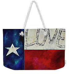 Weekender Tote Bag featuring the painting Love For Texas Two by Patti Schermerhorn