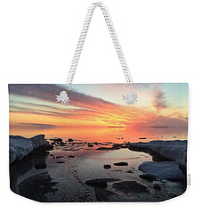 Weekender Tote Bag featuring the photograph Love Front Yard by Paula Brown