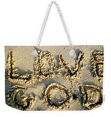 Love God Weekender Tote Bag