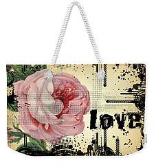 Love Grunge Rose Weekender Tote Bag by Robert G Kernodle
