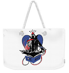 Love/hate Weekender Tote Bag