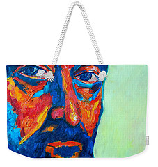 Weekender Tote Bag featuring the painting Love Him So Much by Ana Maria Edulescu