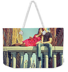 Love In Big City Weekender Tote Bag