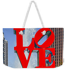 Weekender Tote Bag featuring the photograph Love In Philadelphia Pa by Bill Cannon
