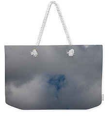 Weekender Tote Bag featuring the photograph Love In The Clouds by Cathie Douglas