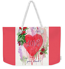 Weekender Tote Bag featuring the painting Love In Your Heart by Marilyn Smith