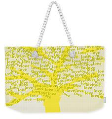 Weekender Tote Bag featuring the painting Love Inspiration Tree by Go Van Kampen