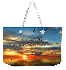 Weekender Tote Bag featuring the photograph Love Is Endless Wonder by Cyryn Fyrcyd