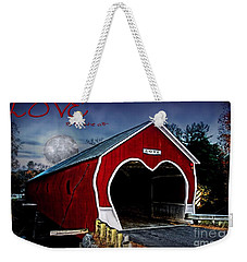 Weekender Tote Bag featuring the photograph Love Is In The Air by DJ Florek