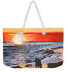 Love Is In The Air Weekender Tote Bag by Donna Blossom