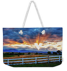 Weekender Tote Bag featuring the photograph Love Is In The Air by James BO Insogna