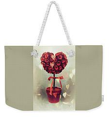 Weekender Tote Bag featuring the digital art Love Is In The Air by Lois Bryan