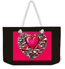 Weekender Tote Bag featuring the digital art Love Is Patient And Kind by Will Borden