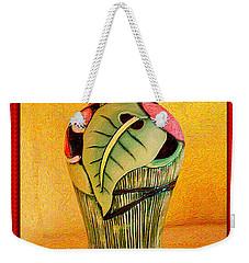 Love Jar Red Background Weekender Tote Bag