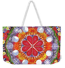 Weekender Tote Bag featuring the painting because Love Lasts for Eternity #1 by Kym Nicolas