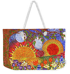 Weekender Tote Bag featuring the painting  Because Love Lasts For Eternity #2 by Kym Nicolas
