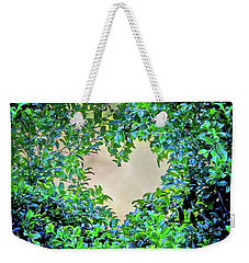 Weekender Tote Bag featuring the photograph Love Leaves by Az Jackson