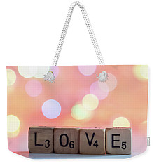 Love Lights Square Weekender Tote Bag by Terry DeLuco