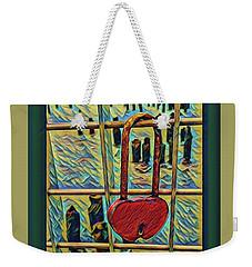 Love Locked On The Hudson Weekender Tote Bag by Bruce Carpenter
