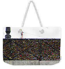 Love Locks Bridge Ile De Cite Paris Weekender Tote Bag