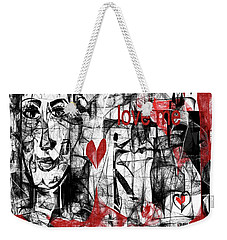 Weekender Tote Bag featuring the digital art Love Me  by Sladjana Lazarevic