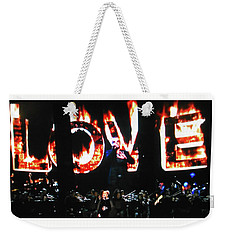 Weekender Tote Bag featuring the photograph Love Me Some George Michael And Adele by Toni Hopper