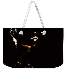 Weekender Tote Bag featuring the digital art Love Restrained by Bob Wall