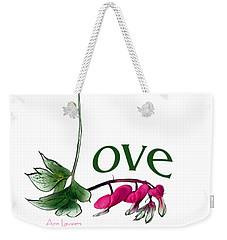 Weekender Tote Bag featuring the digital art Love Shirt by Ann Lauwers