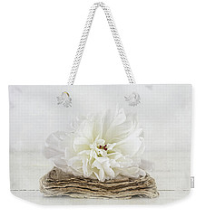 Weekender Tote Bag featuring the photograph Love Story by Kim Hojnacki
