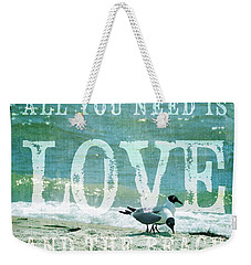 Love The Beach Weekender Tote Bag