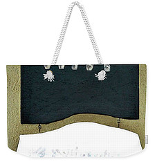 Weekender Tote Bag featuring the painting Love U by Fei A