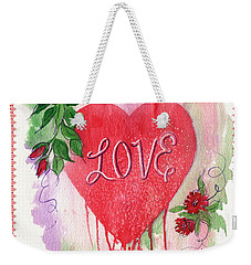 Weekender Tote Bag featuring the painting Love Valentine by Marilyn Smith