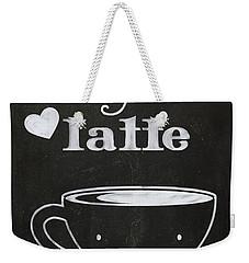 Love You A Latte Weekender Tote Bag