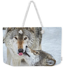 Weekender Tote Bag featuring the photograph Love You Dad.. by Nina Stavlund